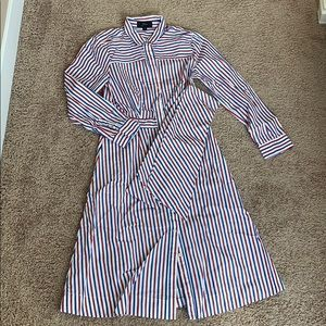 Jcrew red and blue shirt dress size 4